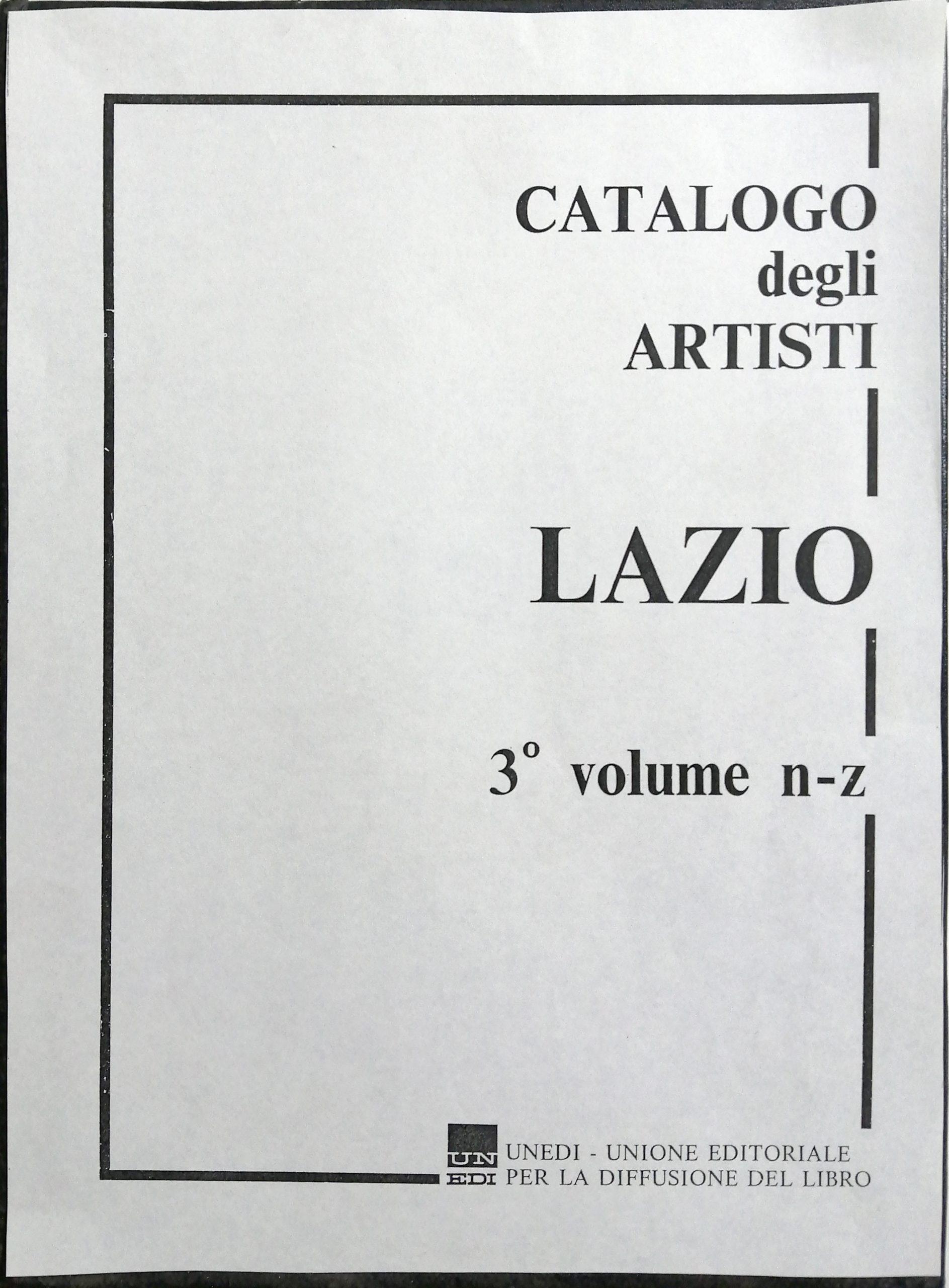 1971 Catalogo degli artisti del Lazio UNEDI scaled - Bibliography/ Catalogues