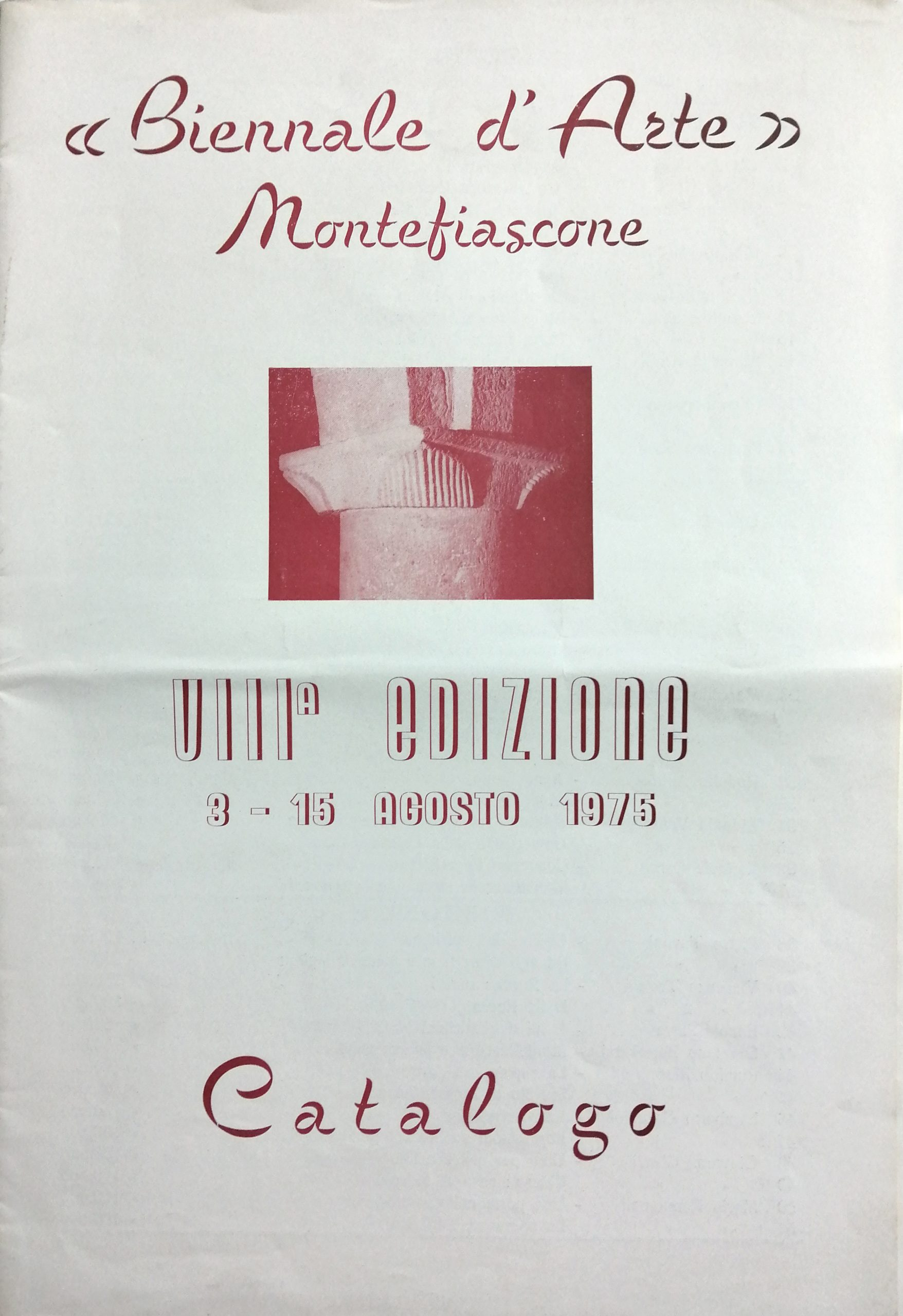 1975 Biennale dArte Montefiascone scaled - Bibliography/ Catalogues