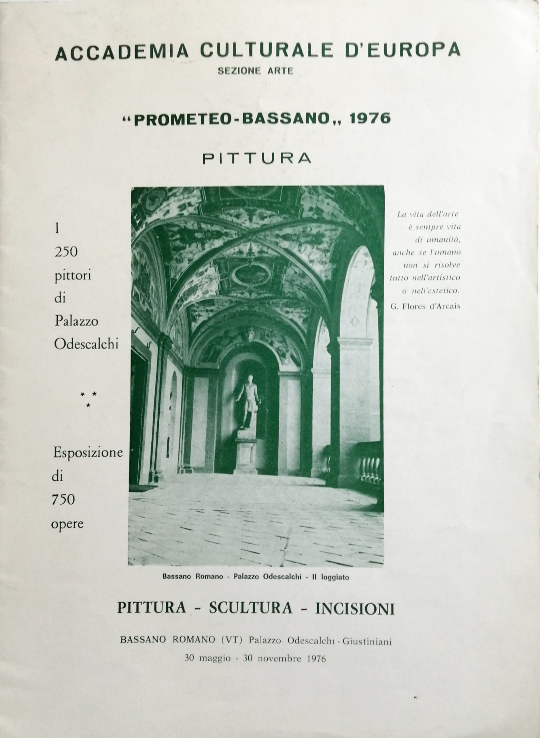 1976 Prometeo Bassano Palazzo Odescalchi Bassano Romano scaled - Bibliography/ Catalogues