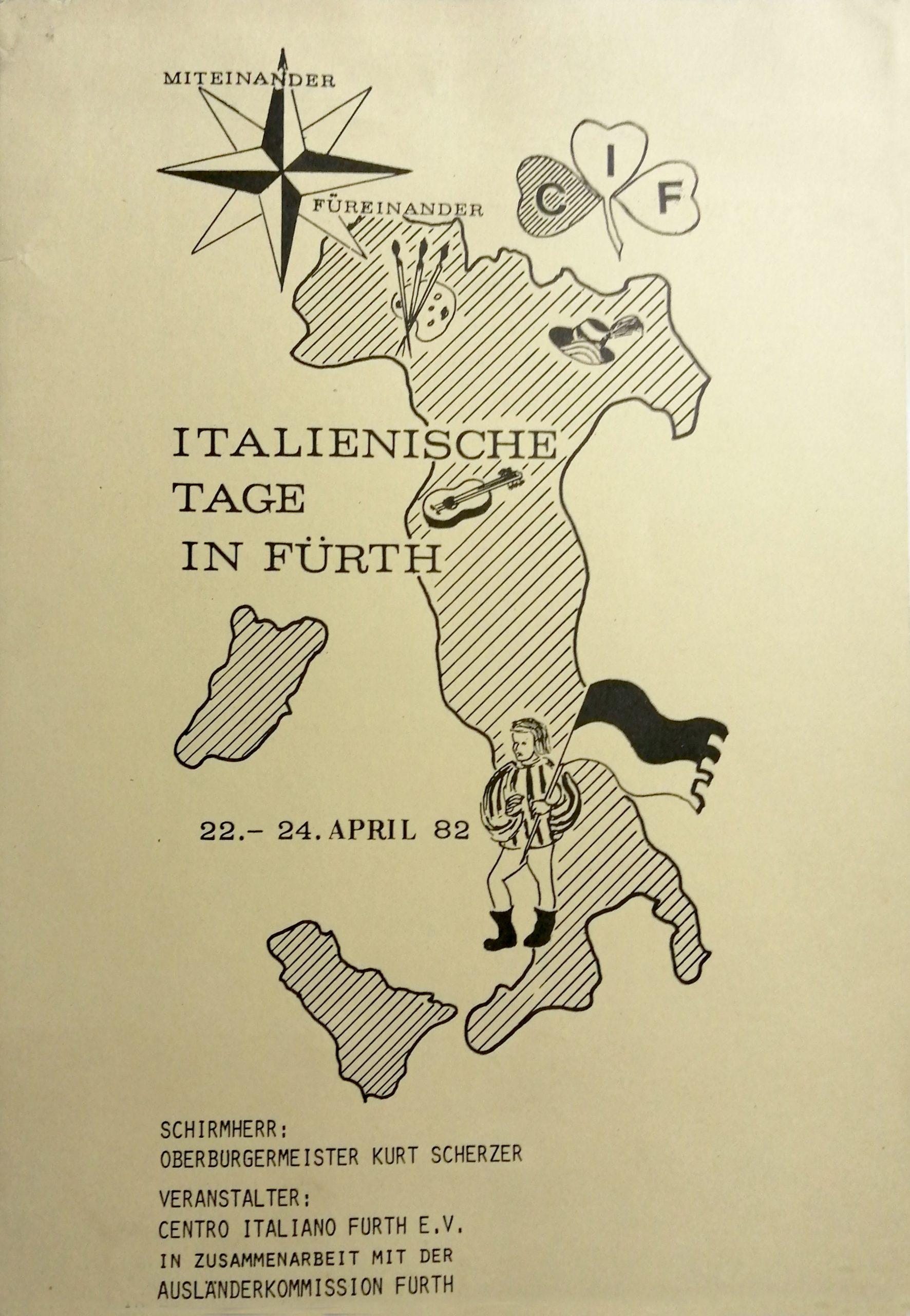 1982 Italienische tage in Furth Centro Italiano Furth scaled - Bibliography/ Catalogues