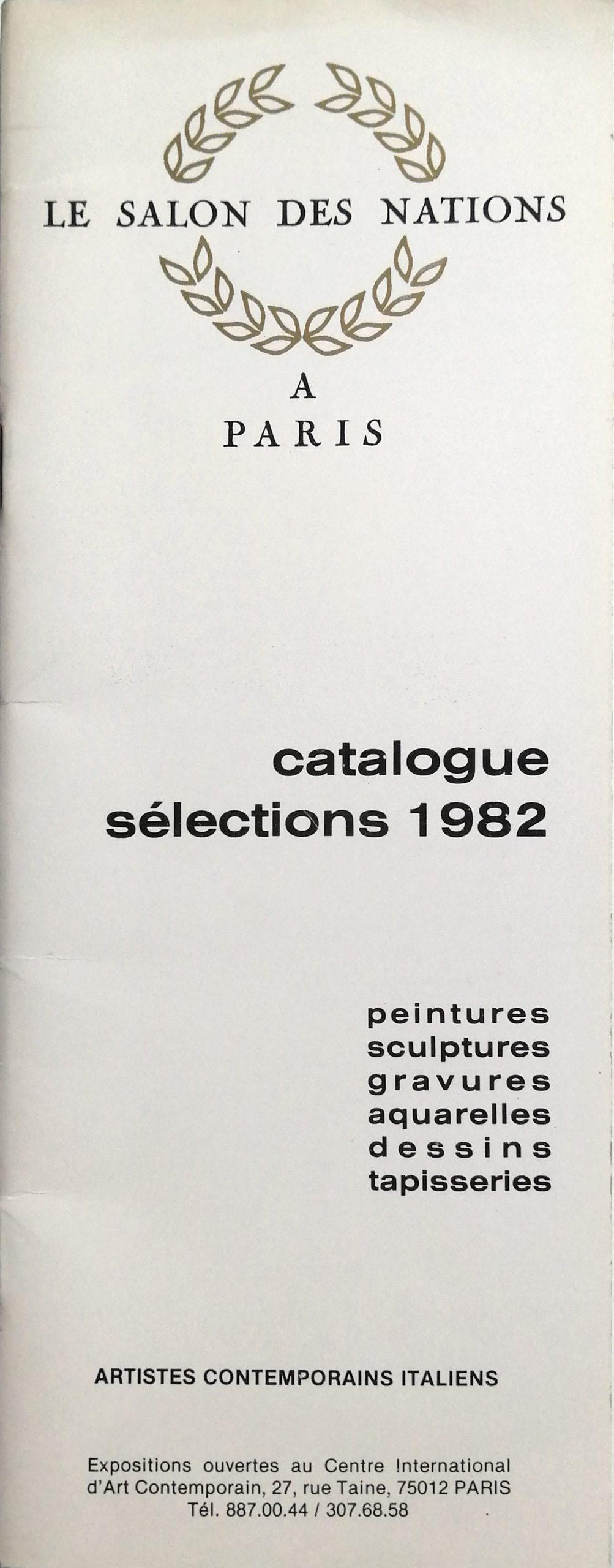 1982 Le salon des nations a Paris Centre Int. dart Contemporain Paris catalogo scaled - Bibliography/ Catalogues