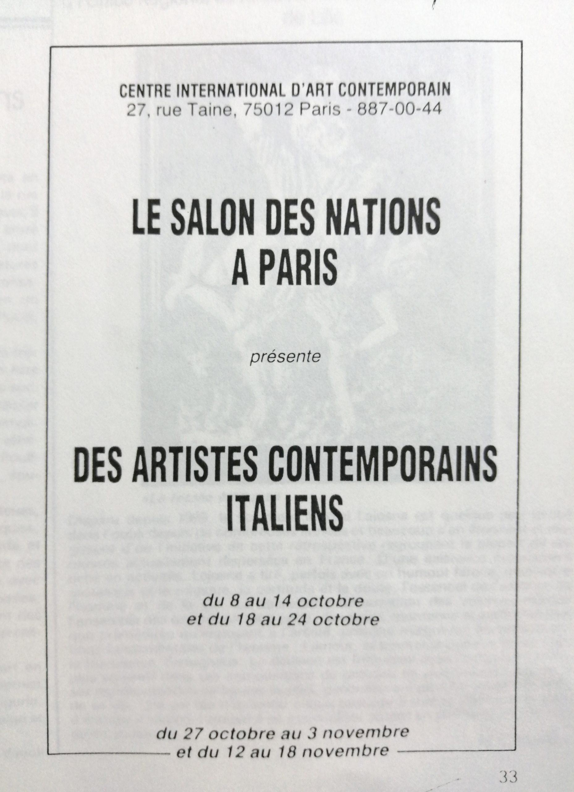 1982 Le salon des nations a Paris Centre Int. dart Contemporain Paris scaled - Bibliography/ Catalogues