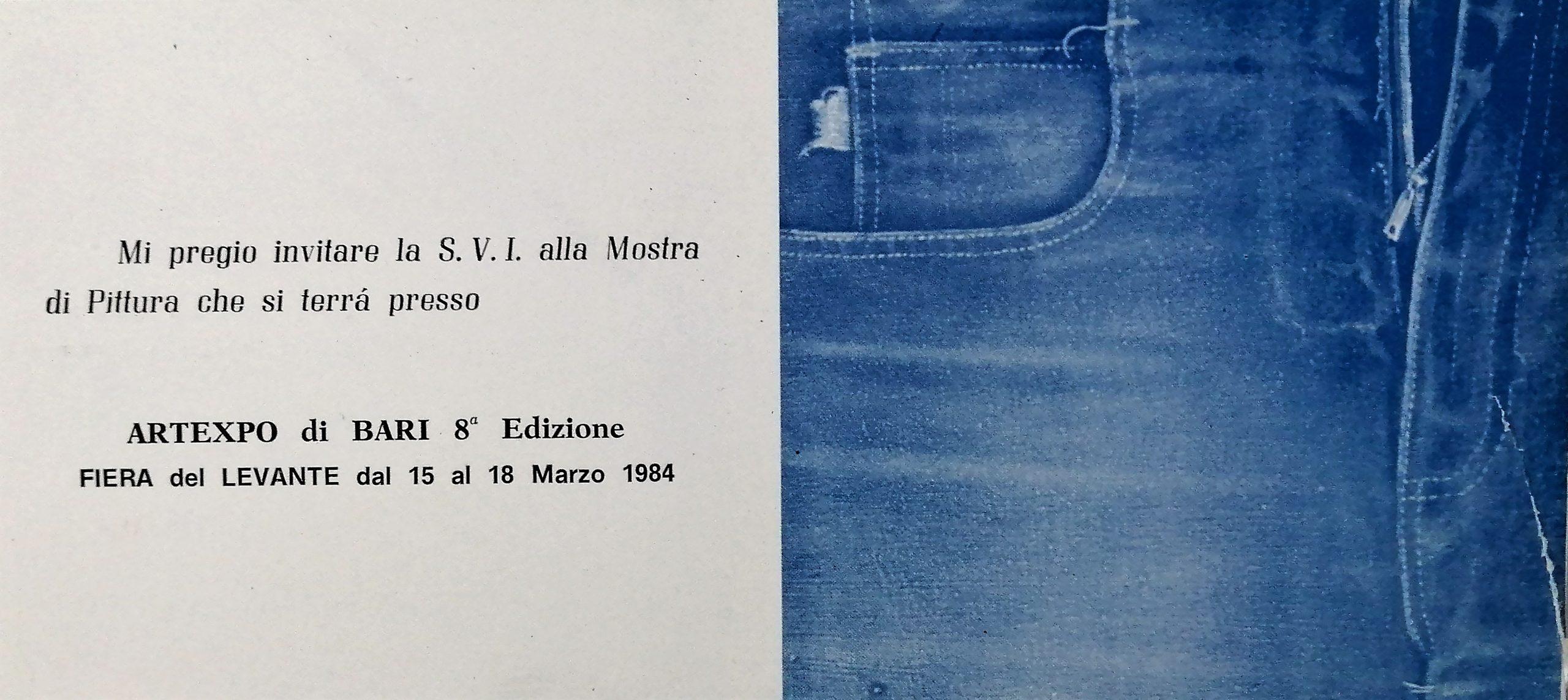 1984 8a ARTEXPO di Bari Fiera del Levante scaled - Bibliography/ Catalogues