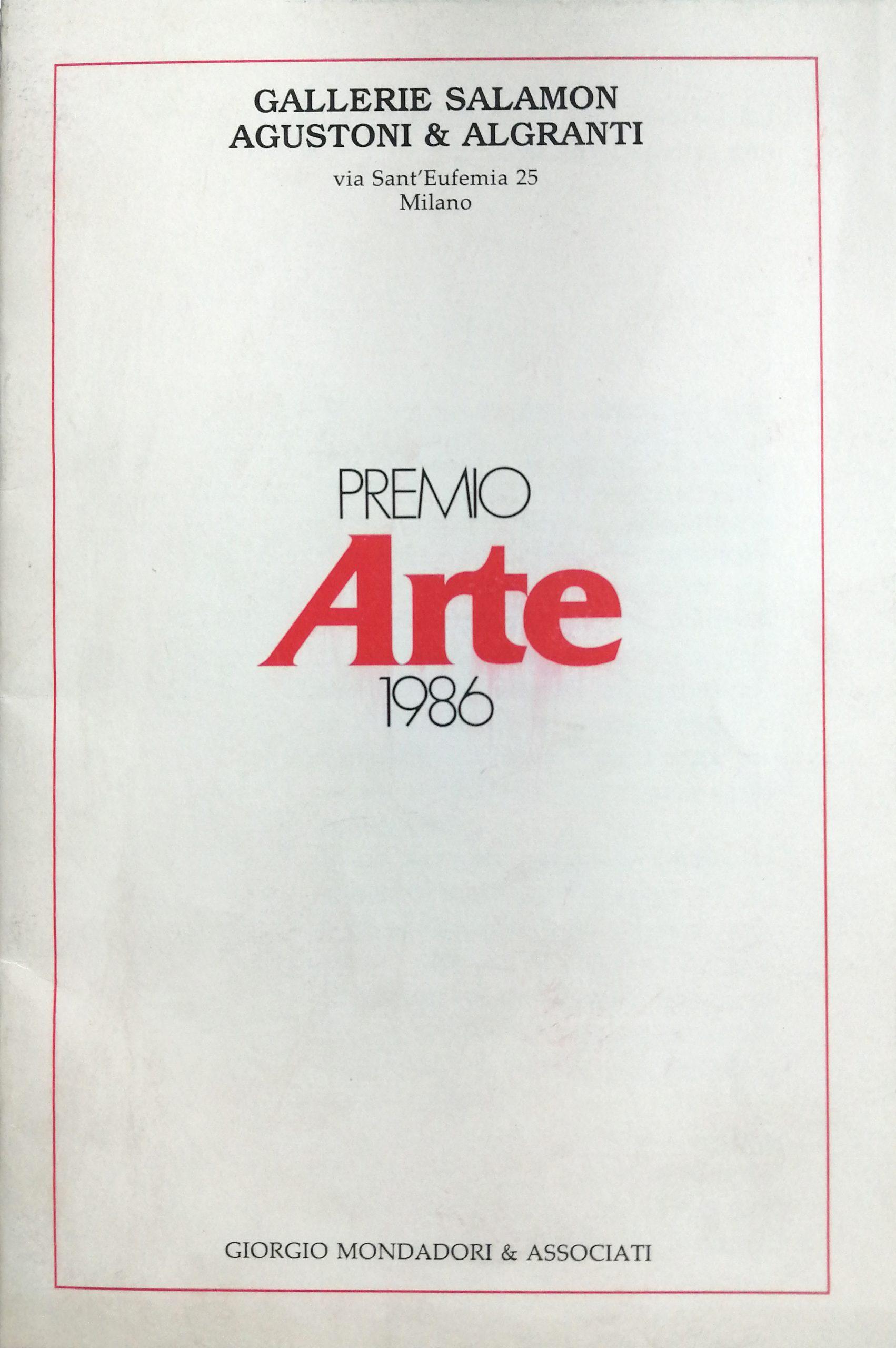 1986 Premio Arte Gallerie Salamon Agustoni Algranti Milano scaled - Bibliography/ Catalogues