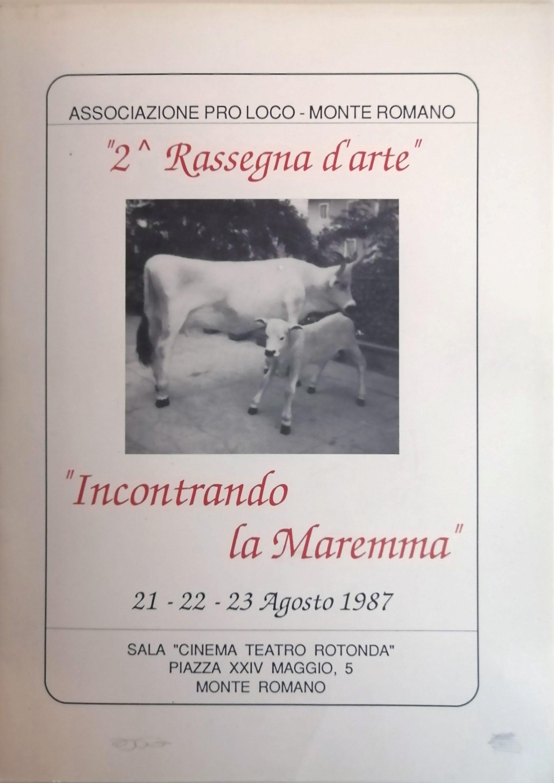 1987 Incontrando la Maremma Sala Teatro Rotonda Monte Romano scaled - Bibliography/ Catalogues