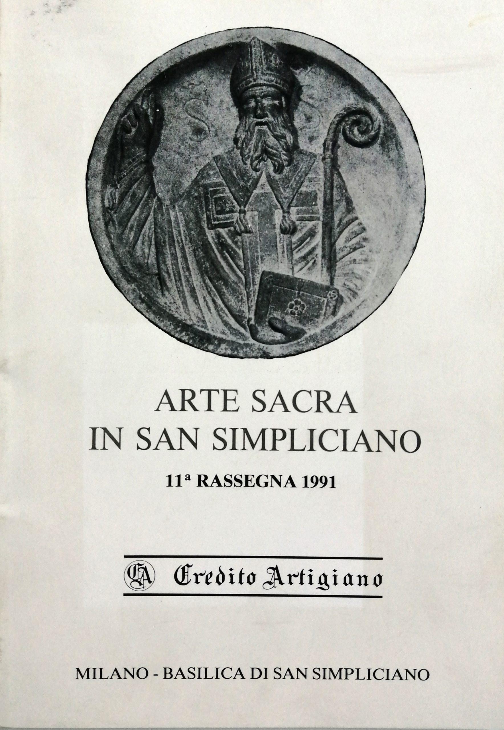 1991 Arte Sacra in San Simpliciano Milano scaled - Bibliography/ Catalogues
