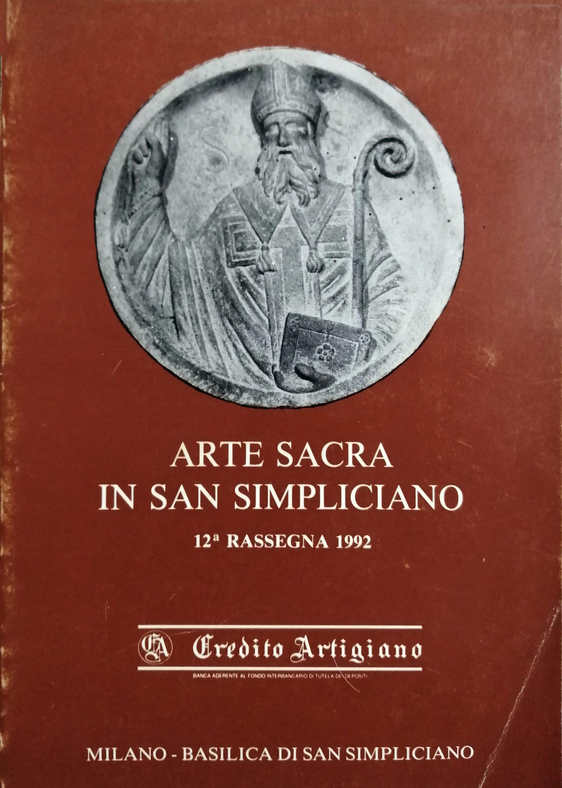 1992 Arte Sacra in San Simpliciano Milano scaled - Bibliography/ Catalogues
