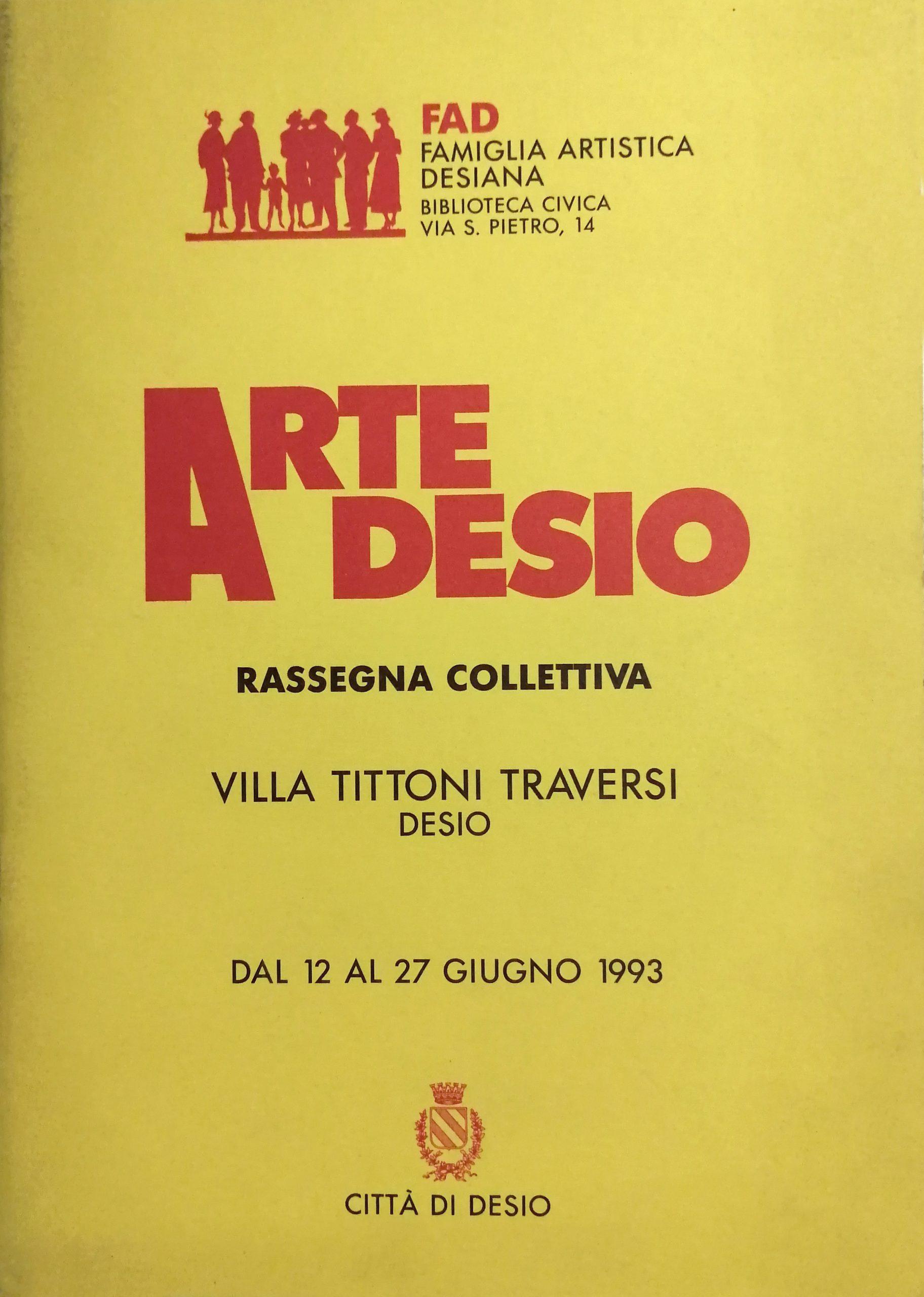 1993 Arte a Desio Villa Tittoni Traversi Desio scaled - Bibliography/ Catalogues