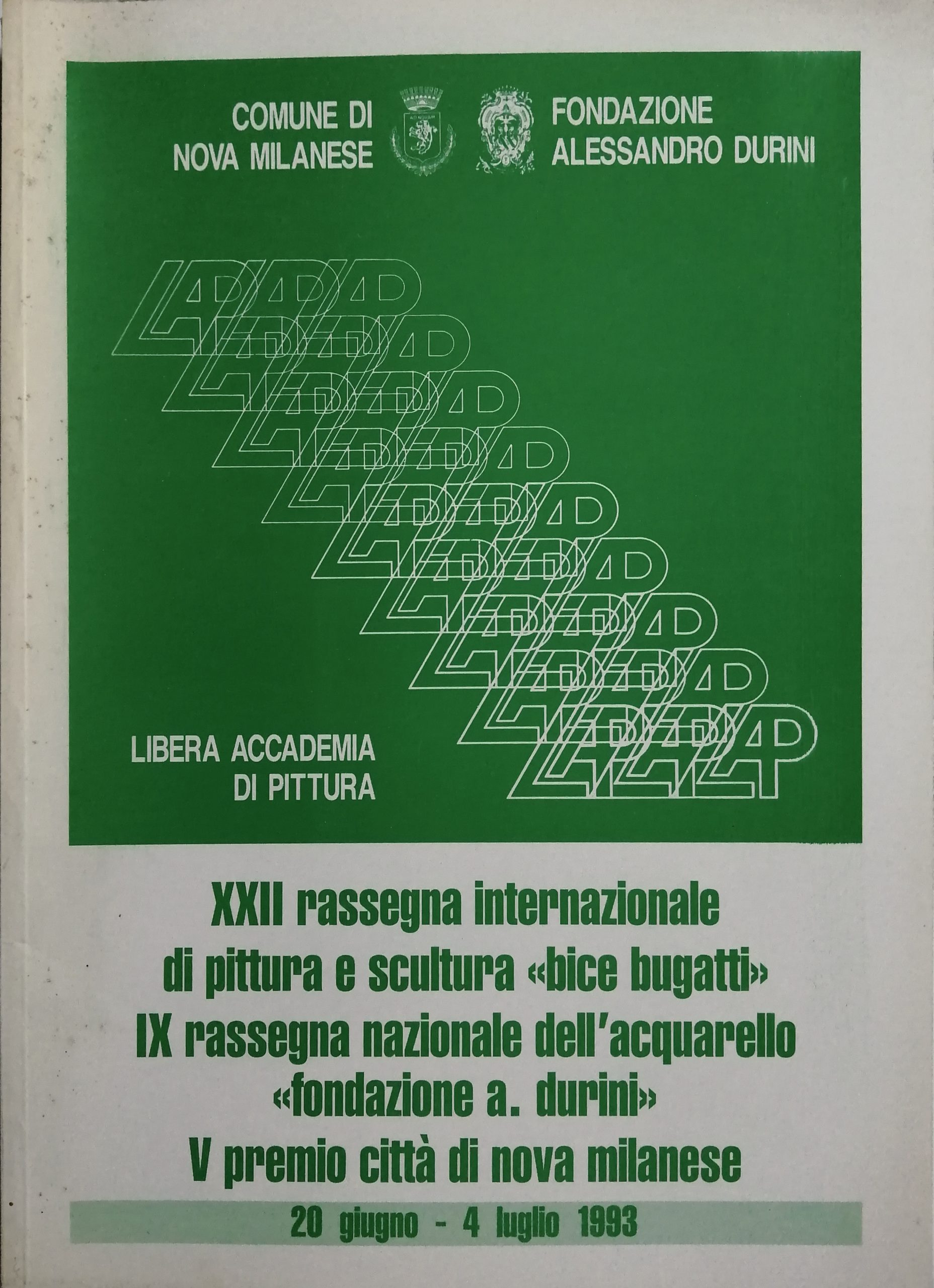 1993 XXII Rass. Int. Bice Bugatti Nova Milanese scaled - Bibliography/ Catalogues