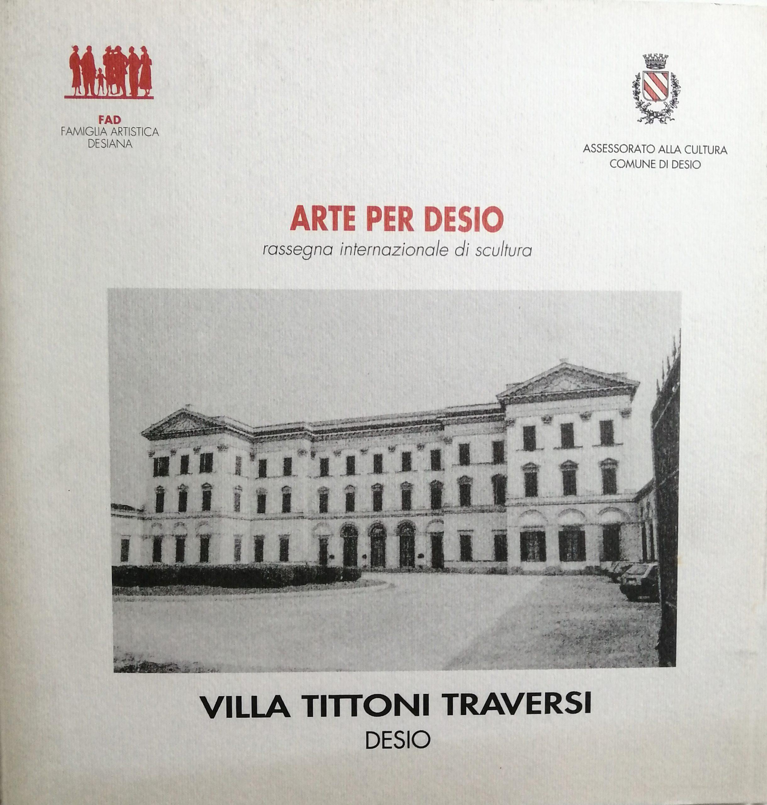 1994 Arte per Desio Villa Tittoni Traversi Desio scaled - Bibliography/ Catalogues