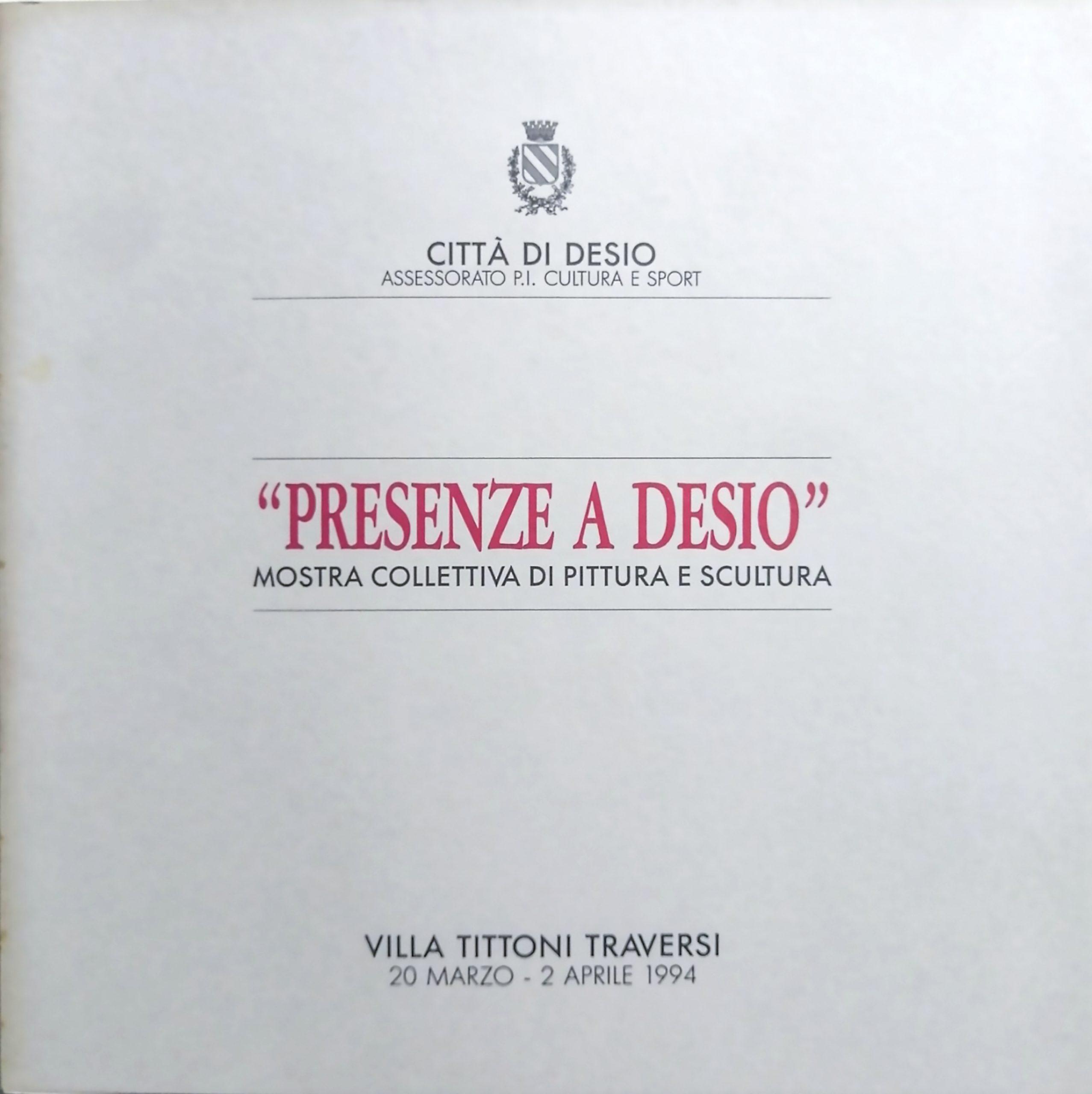 1994 Presenze a Desio Villa Tittoni Traversi Desio scaled - Bibliography/ Catalogues