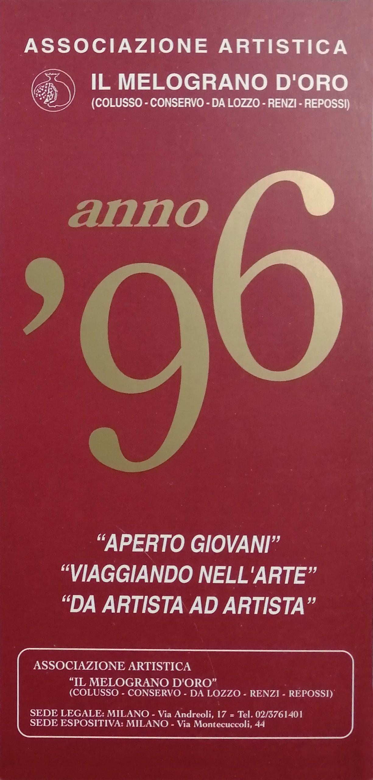 1996 Da artista ad artista Milano scaled - Bibliography/ Catalogues