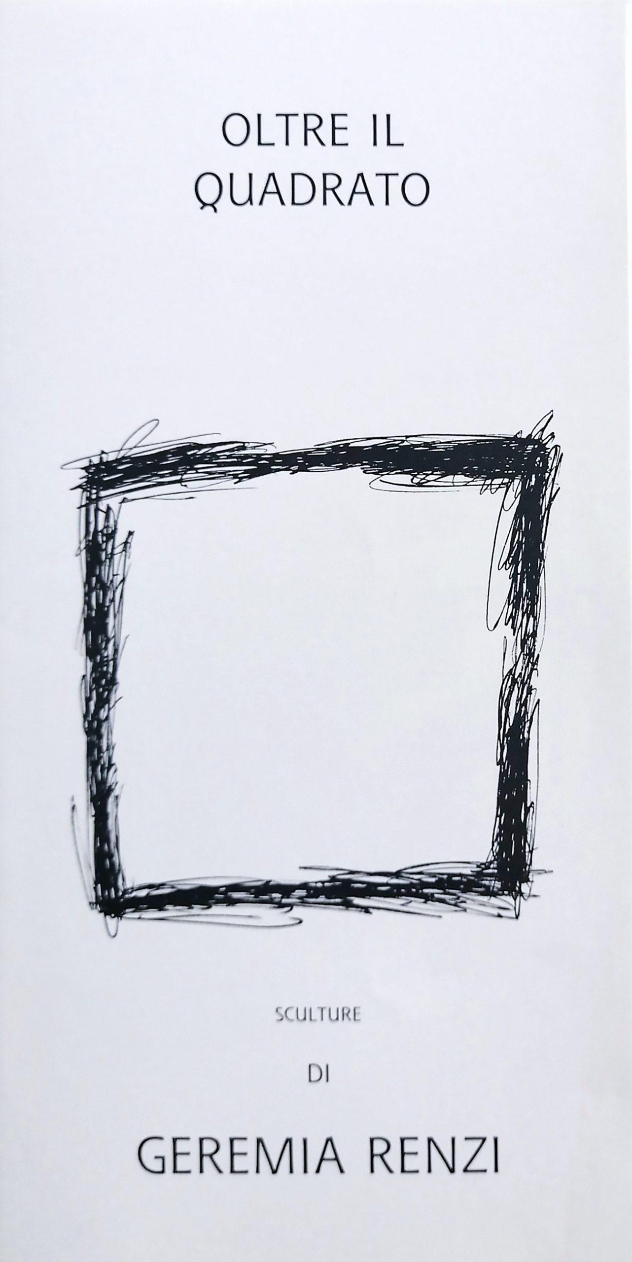 1996 Oltre il quadrato Atelier Petrarte Pietrasanta scaled - Bibliography/ Catalogues