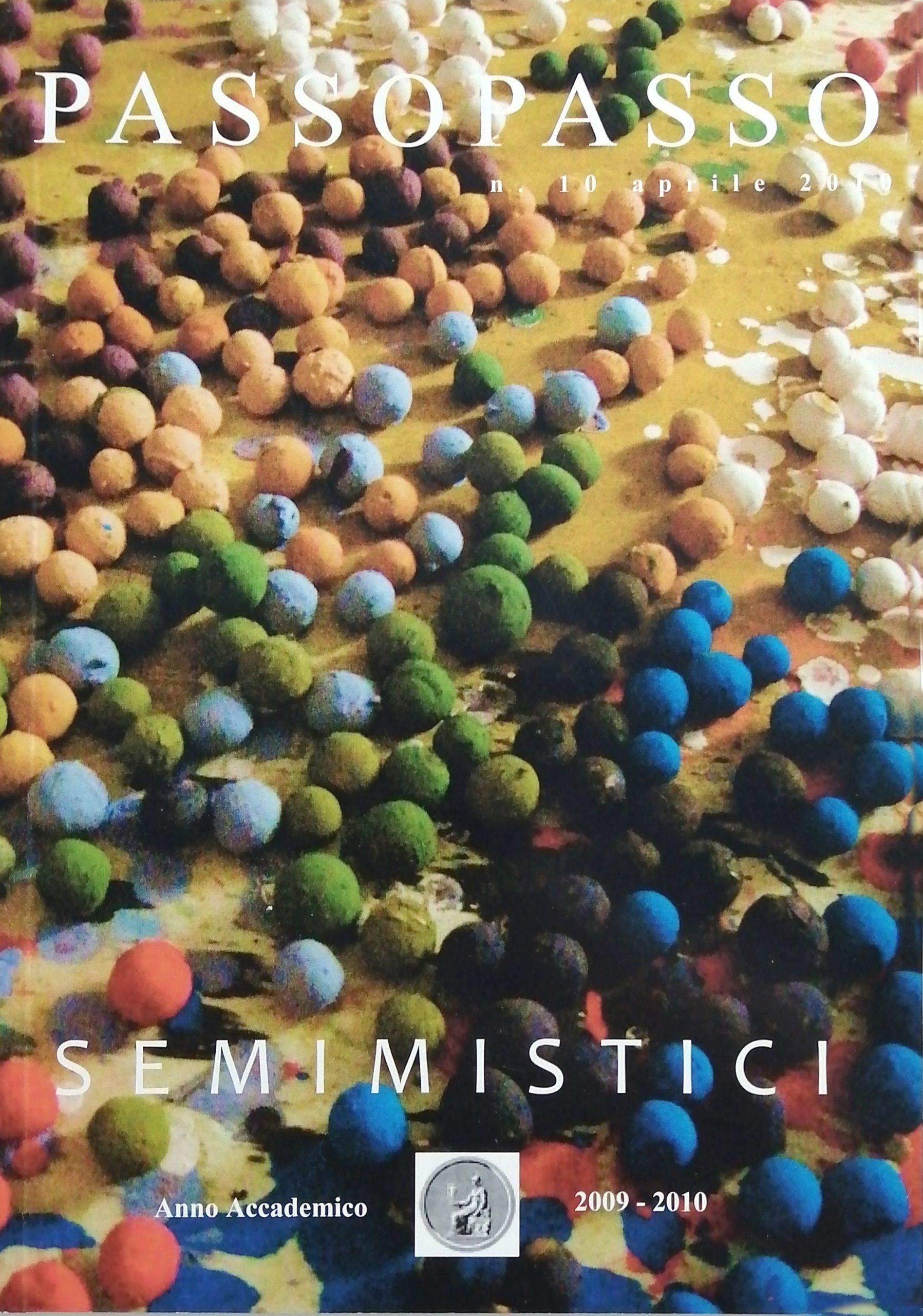 2010 Passopasso 10 rivista catalogo scaled - Bibliography/ Catalogues